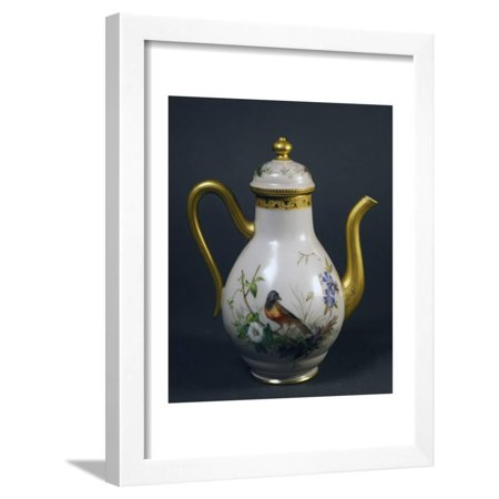 Coffee Pot, Part of Coffee Service, Circa 1865, China Framed Print Wall Art