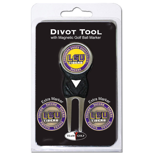 Team Golf NCAA Louisiana State Divot Tool Pack With 3 Golf Ball Markers