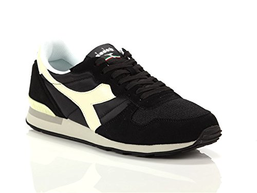 Diadora 159886-C2609: Camaro Black/Whisper White Mens Sport Nylon/Suede Sneaker