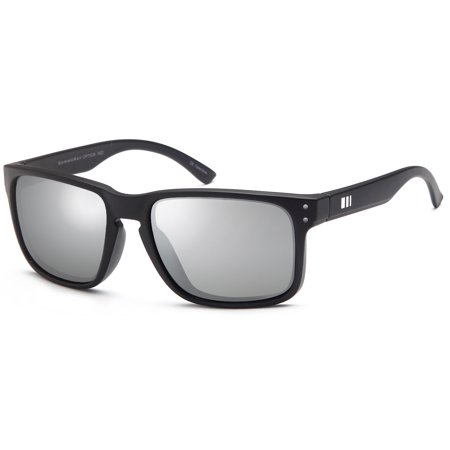 91f8287d12 Gamma Ray Optics - GAMMA RAY Polarized UV400 Classic Sunglasses with Shatterproof  Nylon Frame – Mirrored Silver Lens on Black Frame - Walmart.com