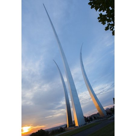 Canvas Print Air Force Memorial Clouds Colorado Springs Sky Stretched Canvas 32 x