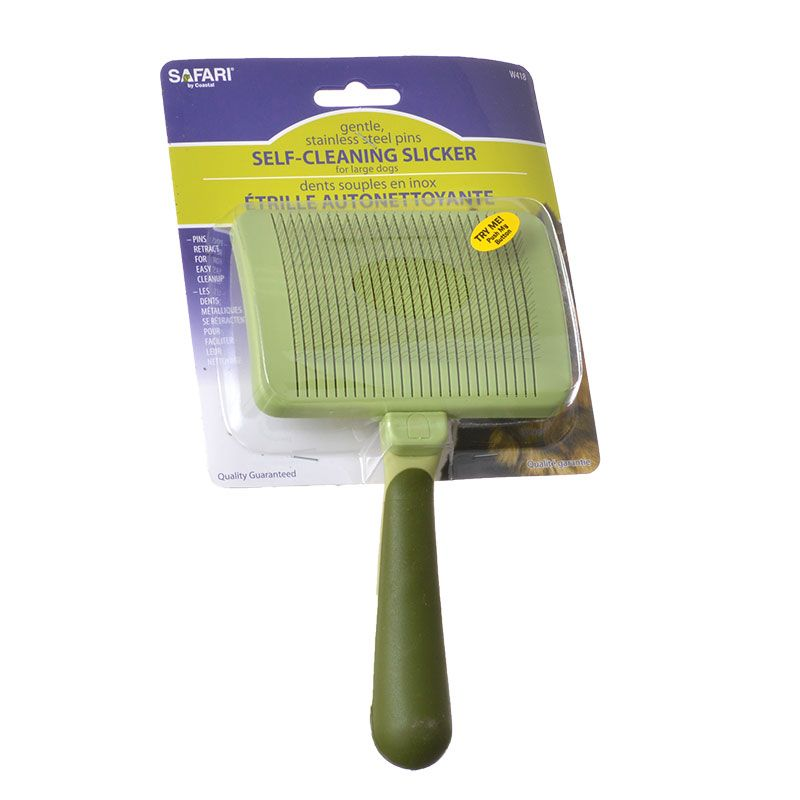 Safari Self Cleaning Slicker Brush Large Dogs - 8 Long x 4.5 Wide - Pack of 10