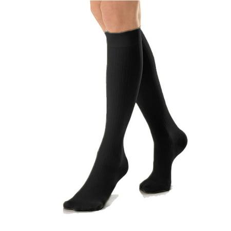 Jobst soSoft Knee High 8-15 mmHg LG (Ribbed) Black