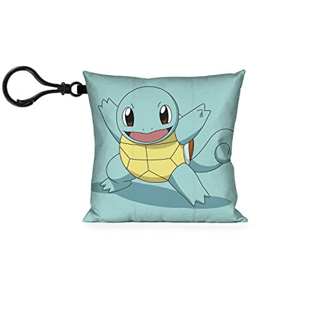 POKEMON Pillow Keychain - Squirtle Pose Aqua + Poké Ball Maroon (Squirtle Girl)