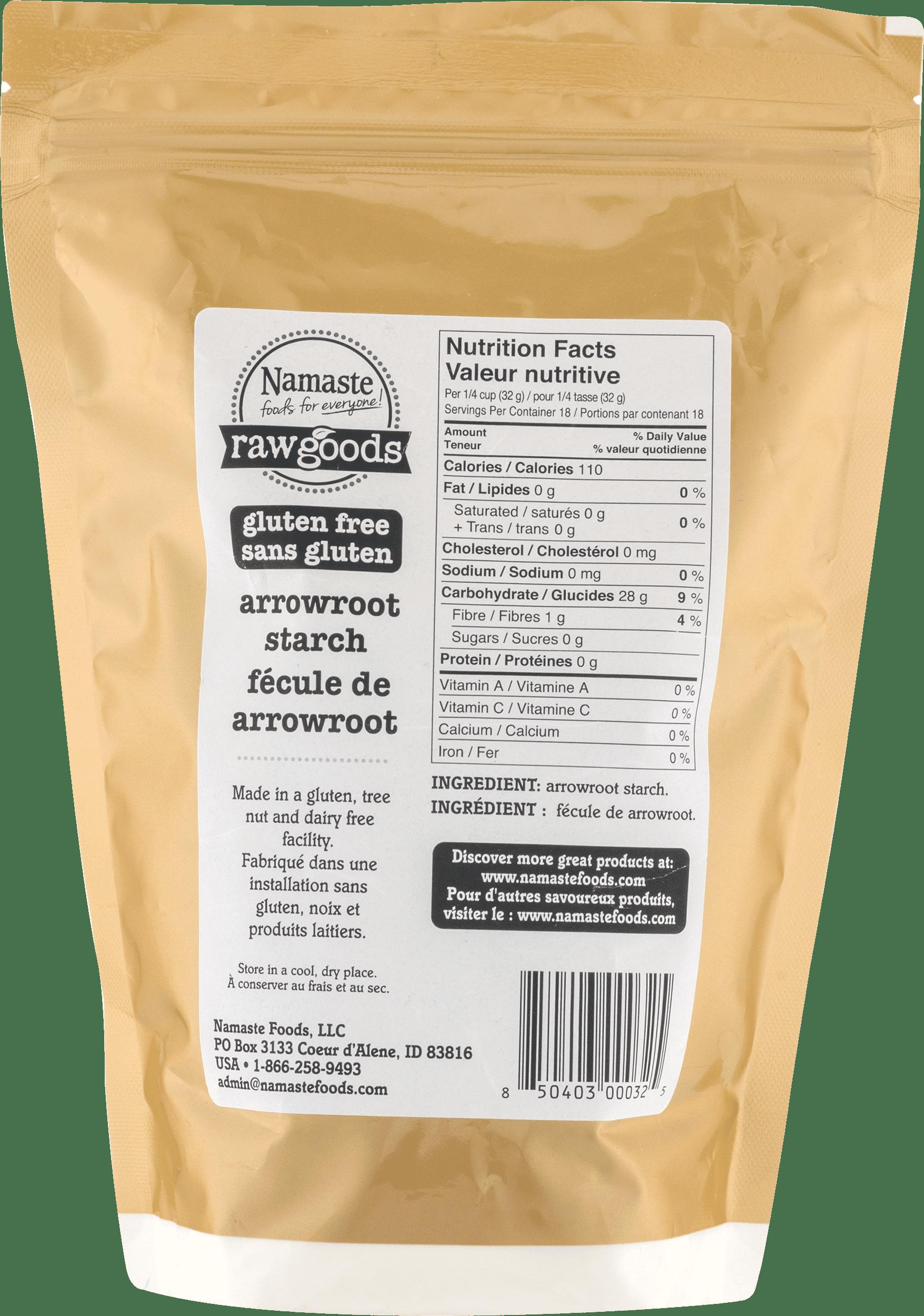 Namaste Foods Raw Goods Gluten Free Arrowroot Starch, 20 oz - Walmart.com
