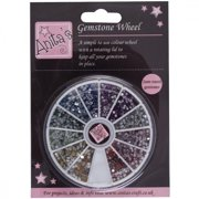 Anita's Gemstone Wheel with 2mm Glue-On Gems, 12 Assorted Colors