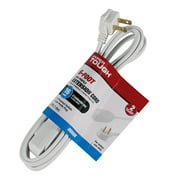 Hyper Tough 6FT 16AWG 2 Prong White Indoor Use Household Extension Cord
