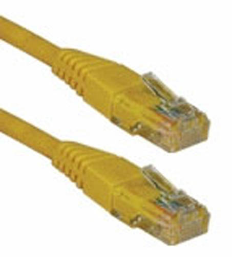 15' ft foot Cat5e RJ45 Ethernet Network Patch Cable Cord Yellow