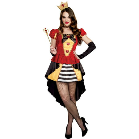 queen of hearts adult womens halloween costume medium