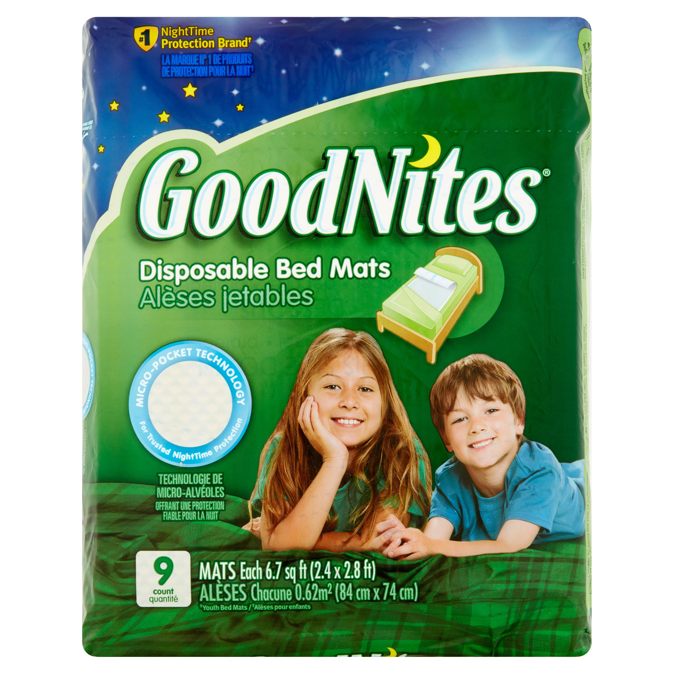 GoodNites Disposable Bed Mats, 9 Ct