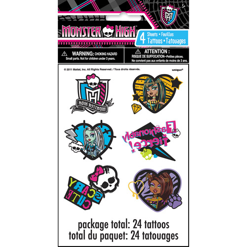 Monster High Tattoos, 24ct
