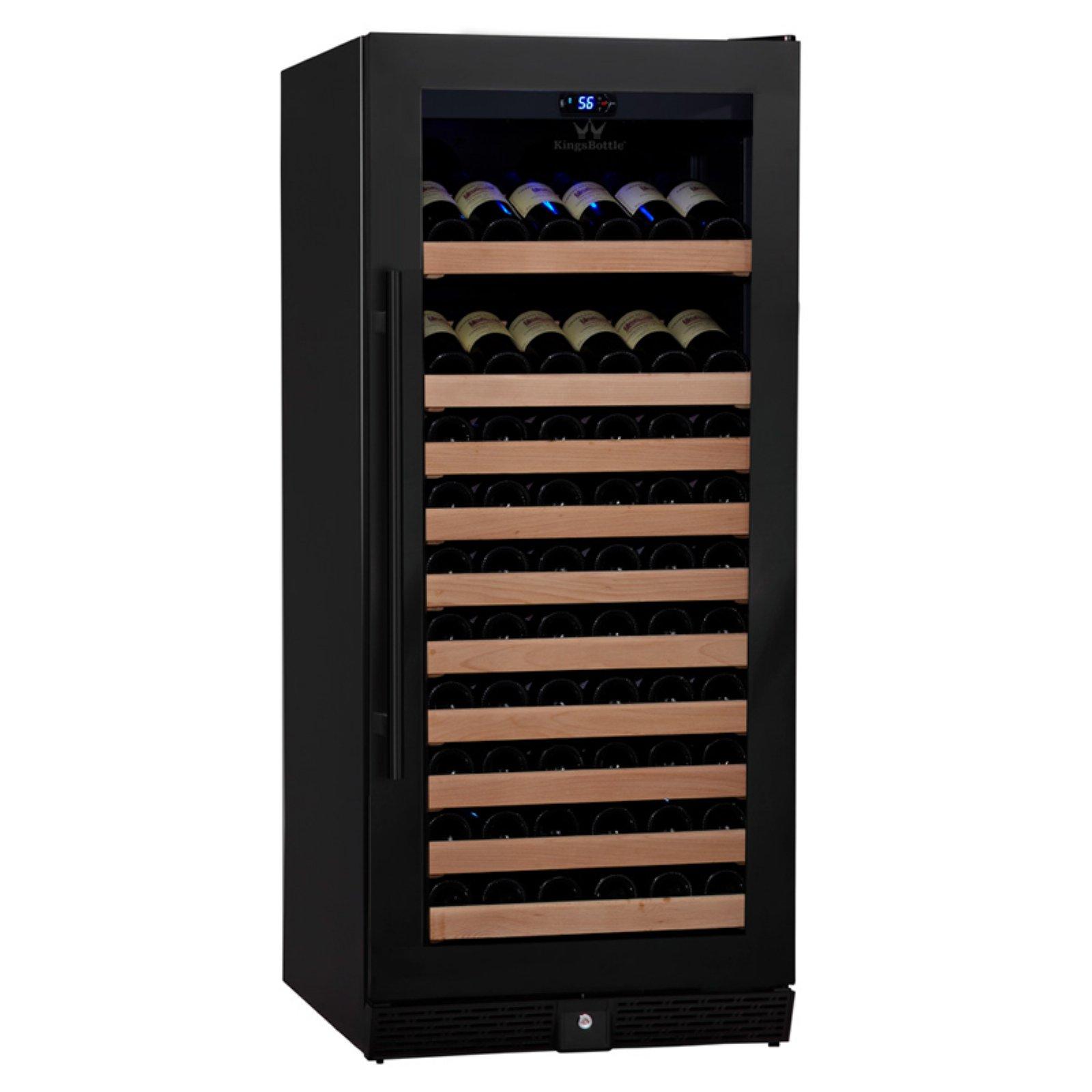 Kingsbottle 98-Bottle 1Temp Wine Fridge, Black