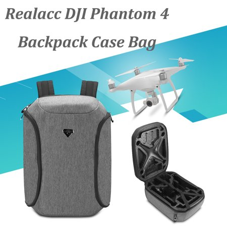 Realacc Waterproof Backpack Shoulders Bag Wear-resistant Hardshell RC Drone Quadcopter Backpack Pouch For DJI Phantom 4/4