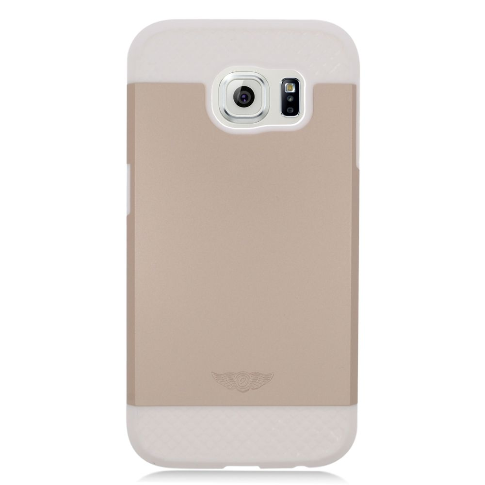 Insten Hard Hybrid Silicone Case For Samsung Galaxy S6 - Gold/White - image 3 of 3