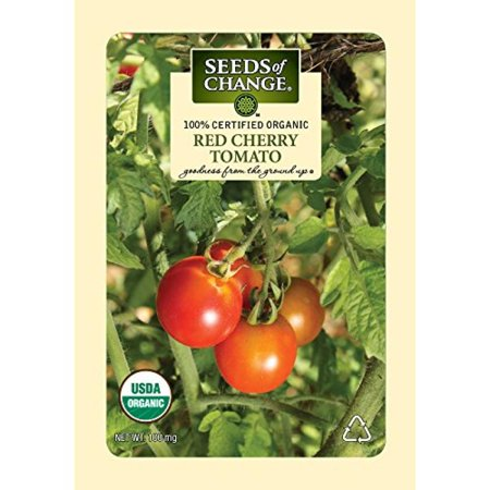 Seeds of Change Certified Organic Tomato, Red Cherry - 100 milligrams, 25 Seeds Pack