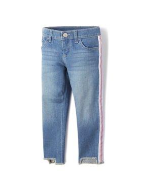 The Children'S Place Glitter Side Stripe Skinny Jean (Big Girls)