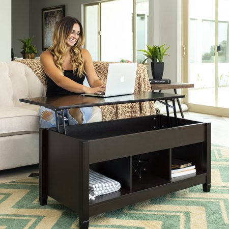 Best Choice Products Modern Home Coffee Table Furniture w/ Hidden Storage and Lift Tabletop - Espresso Monaco Coffee Table Set