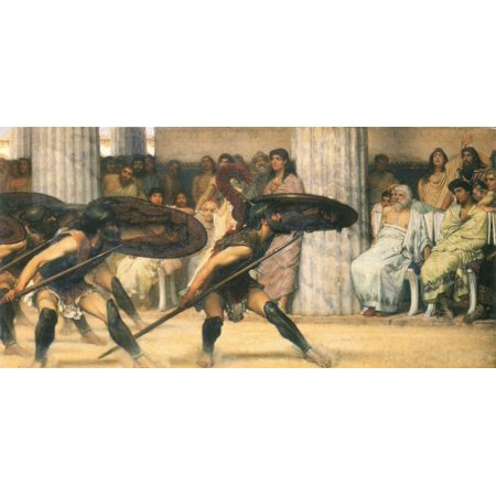 Framed Art for Your Wall Alma -Tadema, Sir Lawrence - A dance for Phyrrus 10 x 13 (Lawrence Outdoor Wall)