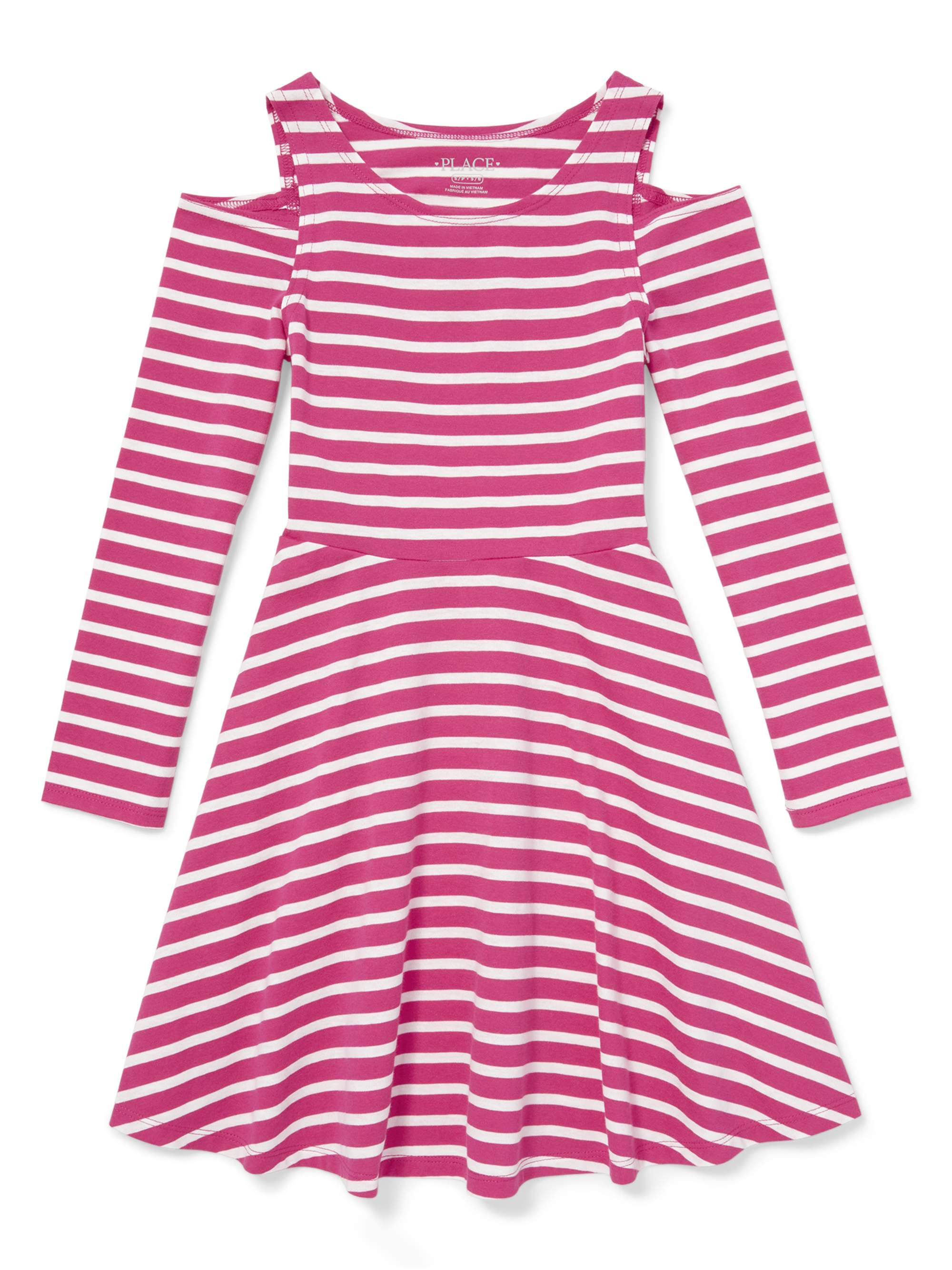 Long Sleeve Cold Shoulder Jersey Dress (Little Girls & Big Girls)