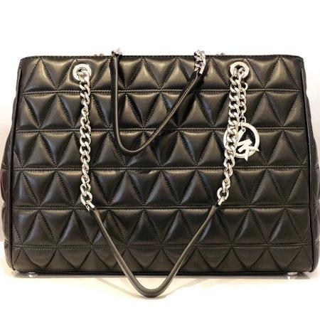 Michael Kors Vivianne Susannah Large Tote Soft Leather Handbag Black
