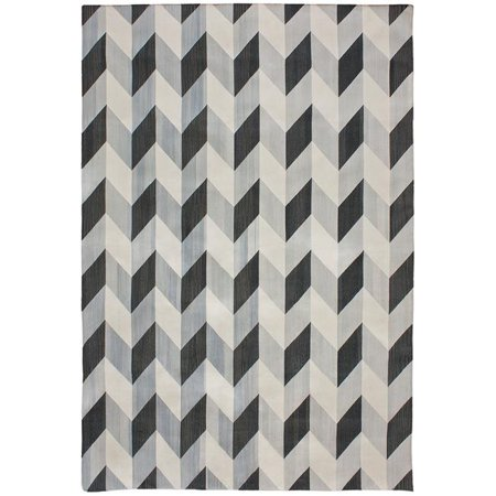 Due Process Stable Trading Flatweave Herringbone Black & Coffee Area Rug, 4 x 6 ft. - image 1 of 1