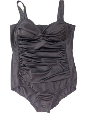 0670ef0595e Product Image Womens Black One Piece Ruffle Bathing Suit Adjustable Strap  Swimming Suit