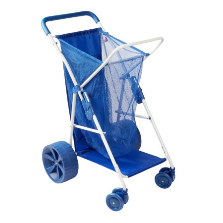 - Cargo Carrying Beach Buggy - Blue - Foldable - Holds up to 4 chairs and large cooler