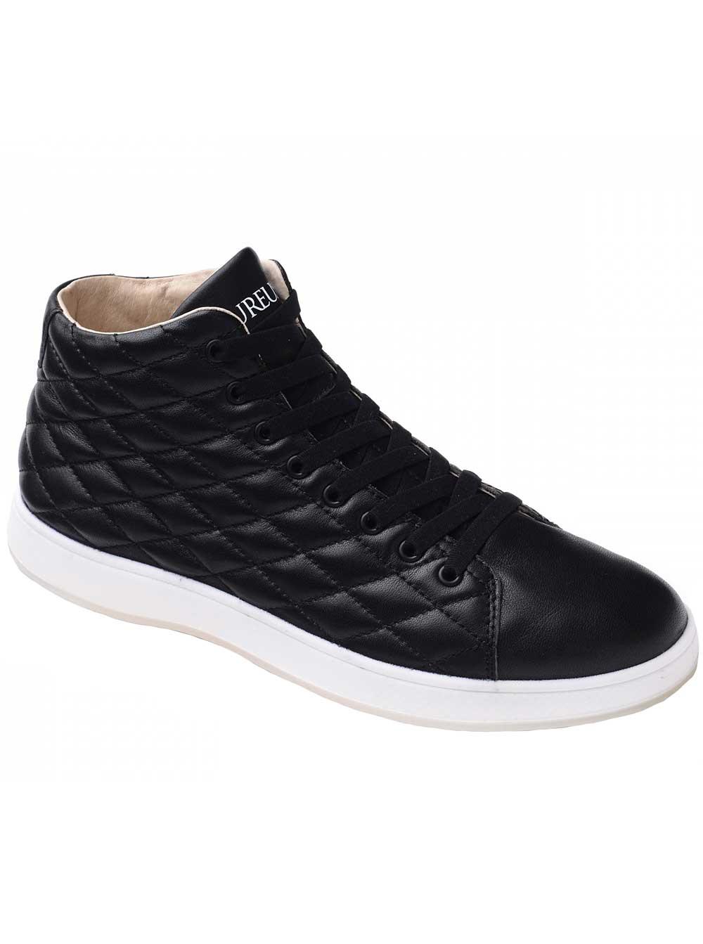 Aureus Men's Lux Black Sneakers 9 M US