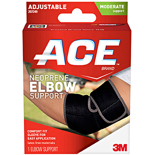 ACE Neoprene Elbow Support, One Size Adjustable, 207249