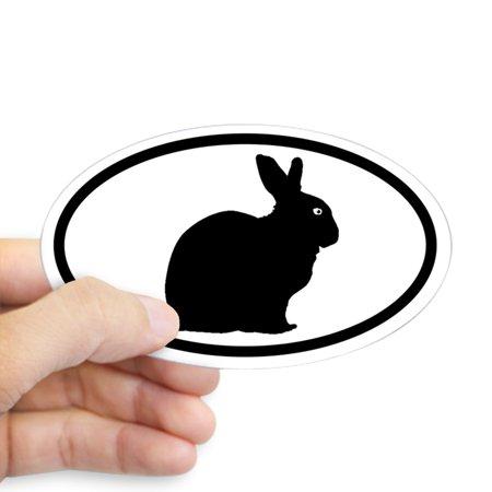 CafePress - Bunny Rabbit Oval Sticker - Sticker