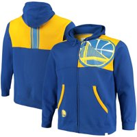 Golden State Warriors Fanatics Branded Big & Tall Iconic Full-Zip Hoodie - Royal/Gold