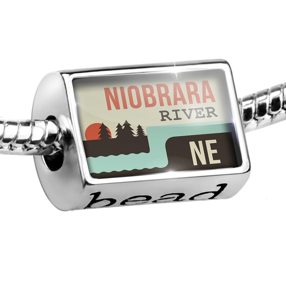 Bead USA Rivers Niobrara River - Nebraska Charm Fits All European Bracelets