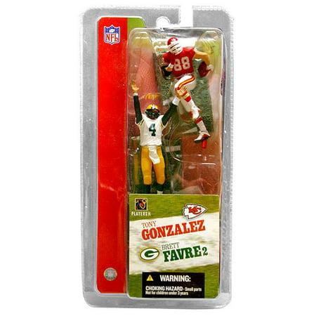 Brett Favre & Tony Gonzalez Mini Figure 2-Pack 2-Pack NFL Brett Favre Packers Figure