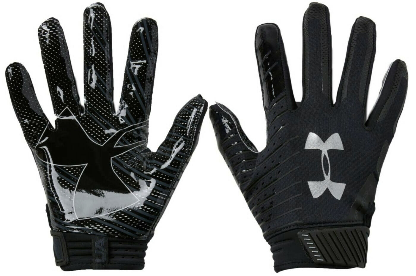 """Under Armour UA Spotlight LUX LE /""""Get to Work/""""  Football Gloves Amber Sz XL"""