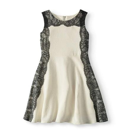 1d6c0a93b5bc8 BLUSH by US Angels - BLUSH by US Angels Lace Trim A-Line Dress (Big ...