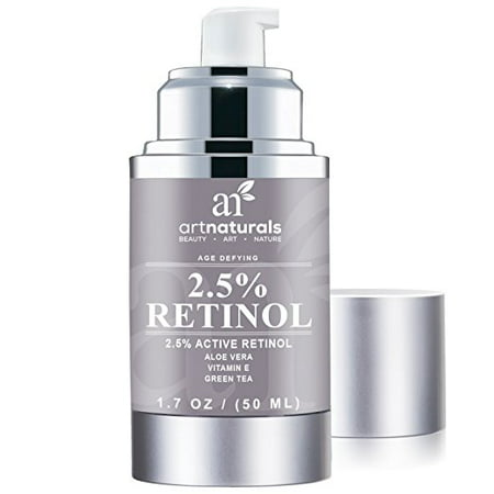Art Naturals Enhanced Retinol Cream Moisturizer 2.5% with 20% Vitamin C & Hyaluronic Acid 1 oz - Best Anti Wrinkle, Anti Aging Serum for Face & Sensitive Skin -Clinical Strength Organic
