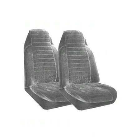High Back Bucket Seat Covers (Set of 2 Universal Fit High Back Regal Pattern Front Bucket Seat Cover - Silver )