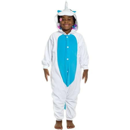 SILVER LILLY NEW Kids Unicorn Plush One Piece Halloween Costume Pajamas - Bananas In Pyjamas Halloween Costume