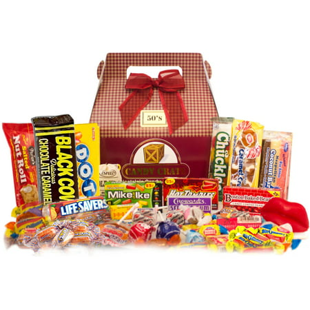 Candy Crate 1950's Retro Candy Gift Box, 2.5 lbs Classic Candy Gift Box