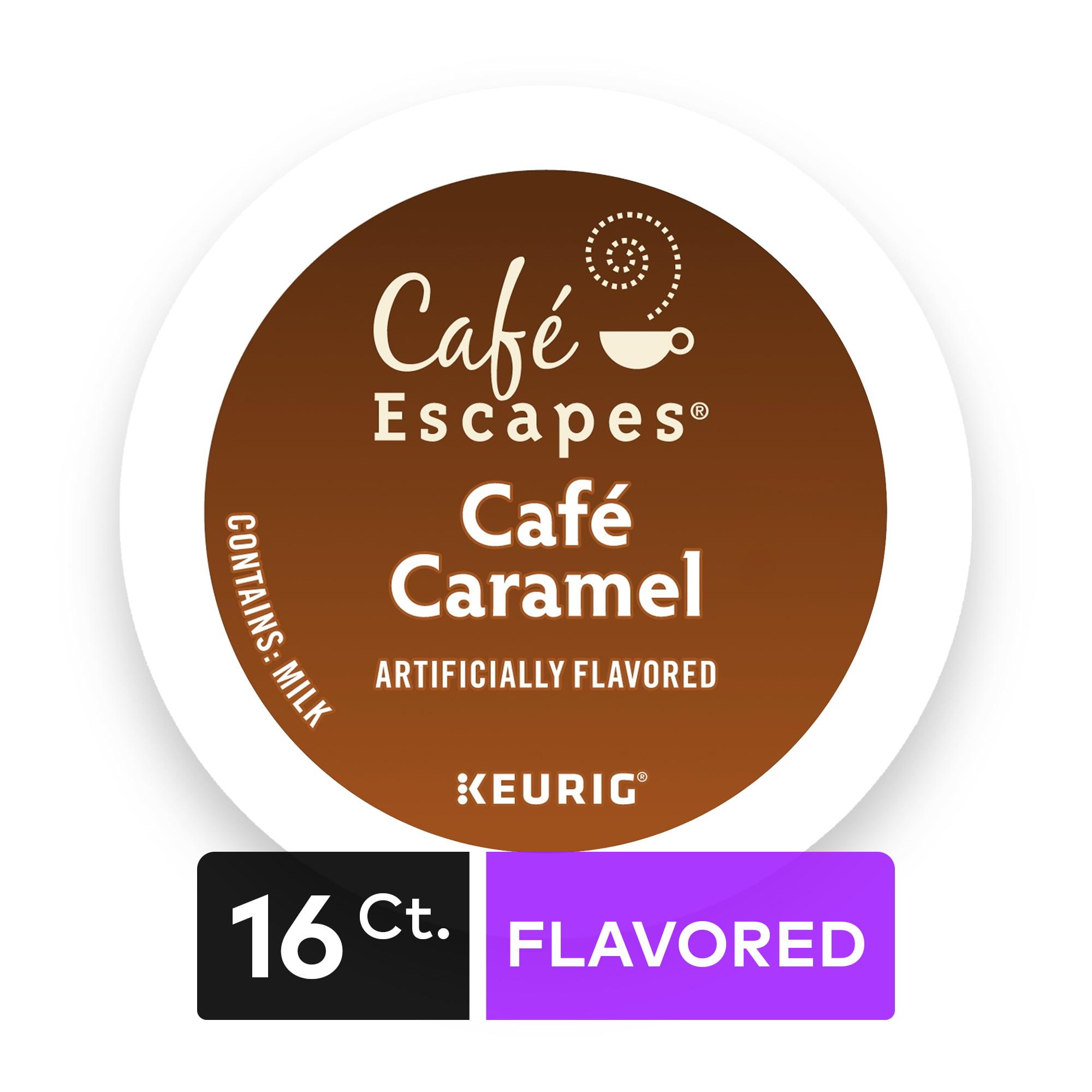 Café Escapes Café Caramel Keurig Single-Serve K-Cup Pods, 16 Count