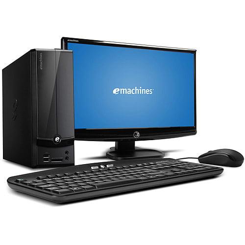 "Acer Black eMachines EL1360G-UW12P Desktop PC with AMD Dual-Core E-300 Processor, 2GB Memory, 20"" Monitor, 500GB Hard Drive and Windows 7 Home Premium"