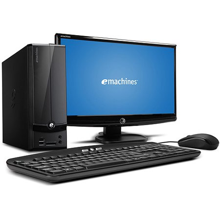Acer Black eMachines EL1360G-UW12P Desktop PC with AMD Dual-Core E-300 Processor, 2GB Memory, 20