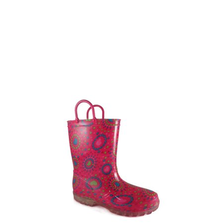 Wonder Nation Girls' Light Up Rain Boot