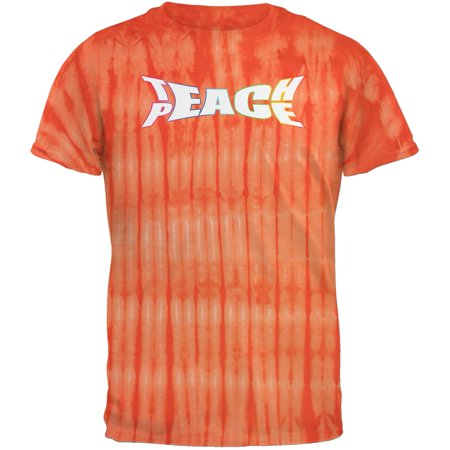 Bamboo Dyes (Teach Peace Bamboo Orange Tie Dye Adult T-Shirt)