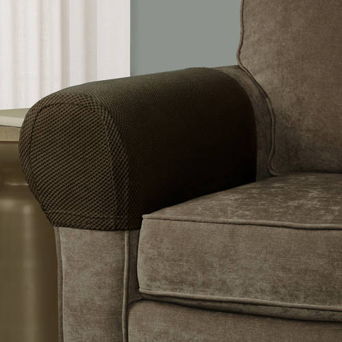 2 Stretch Sofa Arm Cover Soft Protectors Armrest Covers