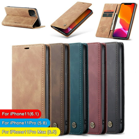 For iPhone 11 Case Pro Max 2019 Luxury Magnetic Leather Wallet Stand Slim (Best Sounding Cell Phone 2019)