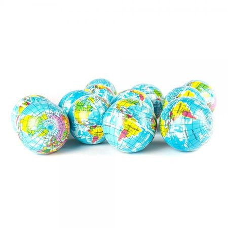 Globe Squeeze Stress Balls Earth Ball Stress Relief Toys Therapeutic Educational Balls Bulk 1 Dozen 3