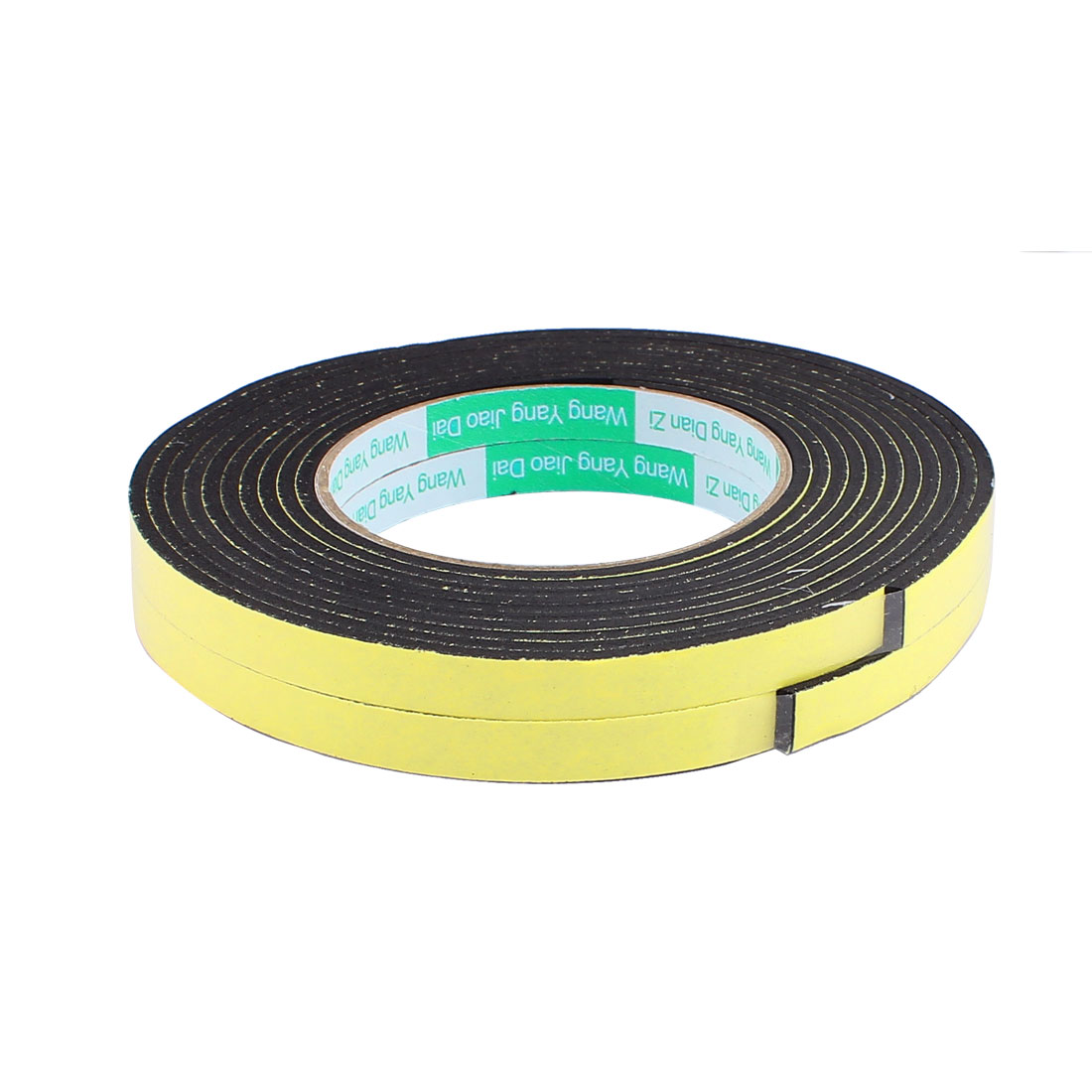 1CM Width 4M Length 3MM Thick Single Sided Sealing Shockproof Sponge Tape 2 Pcs