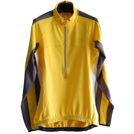 Carbon Cycling Jersey (Men's TopCool Reflective Zipper Long Sleeved Spring Fall Winter Biking Cycling Jersey (Yellow,)