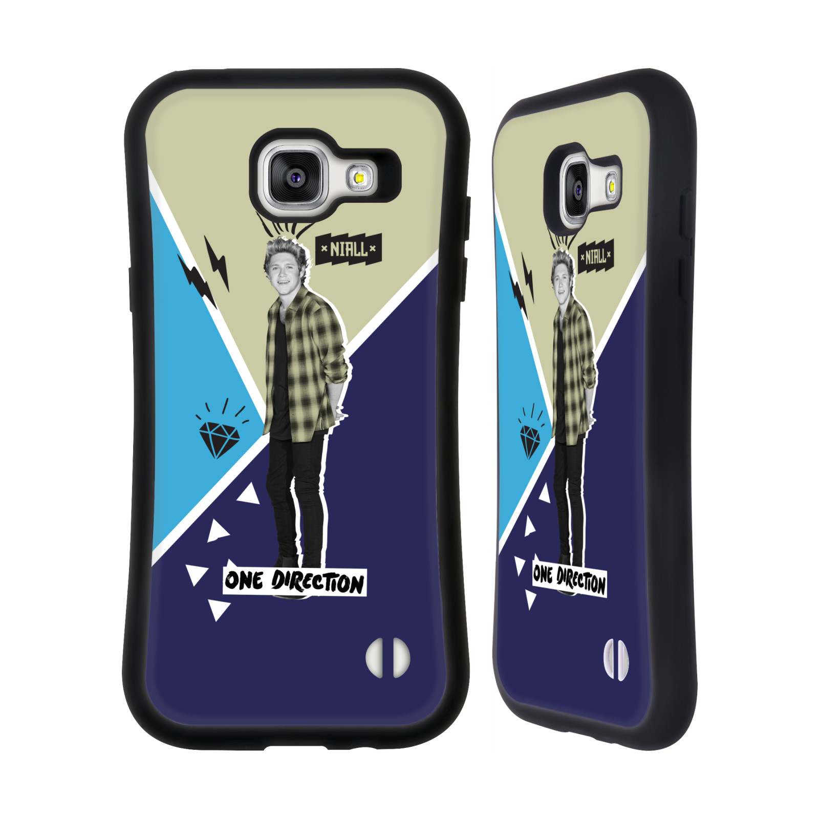 OFFICIAL ONE DIRECTION COLOUR ACCENT PHOTO DOODLE HYBRID CASE FOR SAMSUNG PHONES